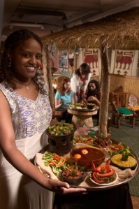 Dinner at Empress Taytu Ethiopian Restaurant. Photo by Barney Taxel